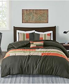 Pipeline 4-Pc. Reversible Full/Queen Comforter Set