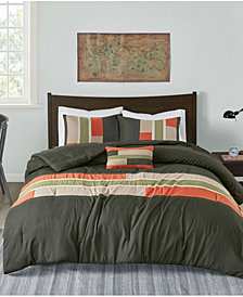 Mi Zone Pipeline 4-Pc. Reversible Full/Queen Comforter Set