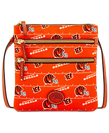 Dooney & Bourke Cincinnati Bengals Nylon Triple Zip Crossbody