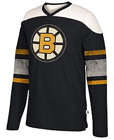 Men's Boston Bruins Appliqué Crew Long Sleeve T-Shirt