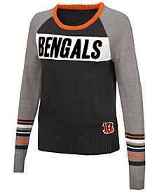 Touch By Alyssa Milano Women's Cincinnati Bengals Team Spirit Sweater