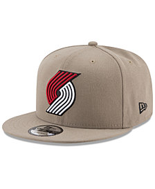 New Era Portland Trail Blazers Tan Top 9FIFTY Snapback Cap