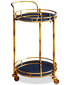 Brenna 2-Tier Bar Cart, Quick Ship