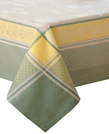 "Villeroy & Boch Fleurence Jacquard 63"" X 126"" Table Cloth"