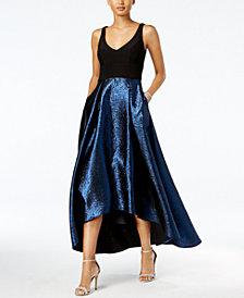 Xscape High-Low Taffeta Gown