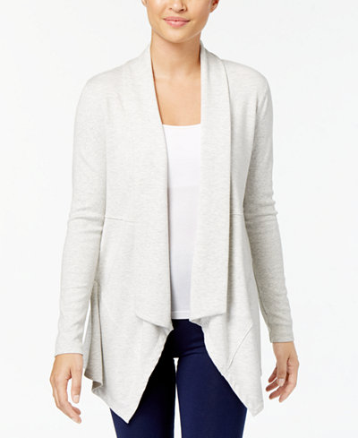 Calvin Klein Performance Draped Cardigan - Sweaters - Women - Macy's