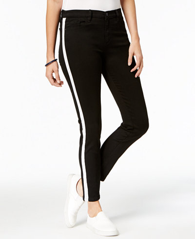 Buffalo David Bitton Striped Skinny Jeans
