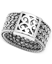 Lois Hill Weave-Style Statement Ring in Sterling Silver