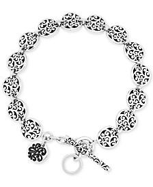 Lois Hill Filigree Disc Link Bracelet in Sterling Silver