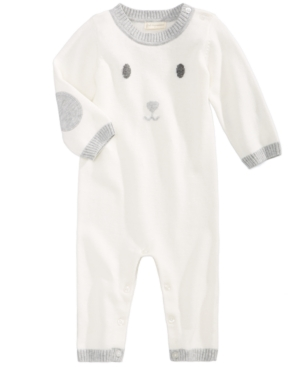 First Impressions Bunny Cotton Sweater Coverall Baby Girls  Baby Boys (024 months) Created for Macys