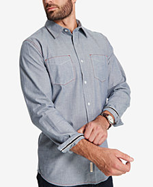 Weatherproof Vintage Men's Pinstriped Flannel Shirt