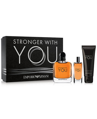 emporio armani 3pc stronger with you gift set mens