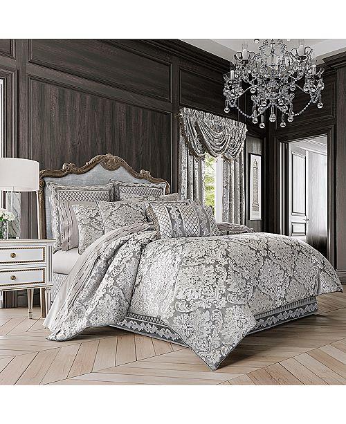J Queen New York Bel Air Silver Comforter Sets Bedding