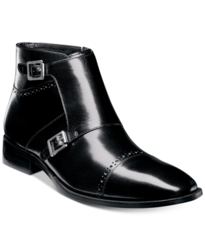 Mens Vintage Style Shoes| Retro Classic Shoes Stacy Adams Mens Kason Double-Monk Strap Cap-Toe Zip Boots Mens Shoes $61.99 AT vintagedancer.com