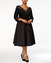 caa3036a1bf Jessica Howard Plus Size Portrait Collar A-Line Dress