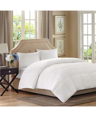 Benton Double-Layer Microfiber White Twin Down-Alternative Comforter
