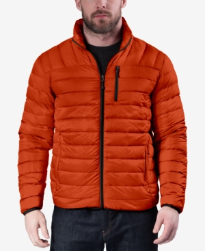 Hawke & Co. Outfitter Men's Packable Down Blend Puffer Jacket, Created For Macy's In Princeton Orange