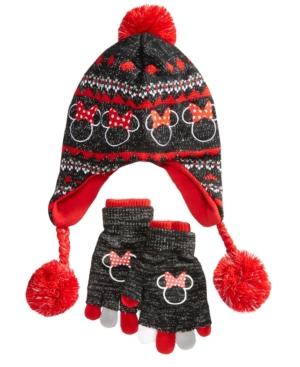 Berkshire 2Pc Minnie Mouse Heidi Hat  Adjustable Gloves Set Little Girls (26X)  Big Girls (716)