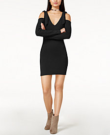 MINKPINK Cold-Shoulder Tie Dress