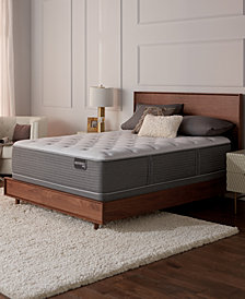 "Serta Masterpiece Albert 14"" Plush Mattress Set - King, Created for Macy's"
