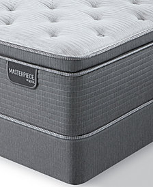 "Serta Masterpiece Leopold 15.5"" Plush Euro Pillow Top Mattress Set - California King, Created for Macy's"