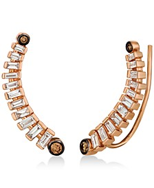 Chocolatier® Diamond Ear Climbers (1/2 ct. t.w.) in 14k Rose Gold