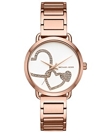 Women's Portia Rose Gold-Tone Stainless Steel Bracelet Watch 37mm