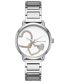 Michael Kors Women's Portia Stainless Steel Bracelet Watch 37mm