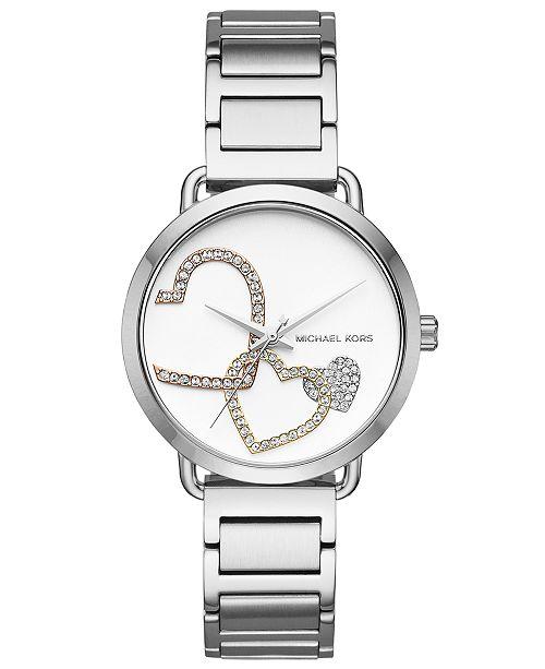 9d63c5b0d643 Michael Kors Women s Portia Stainless Steel Bracelet Watch 37mm ...