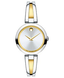 Women's Swiss Aleena Two-Tone Stainless Steel PVD Bangle Bracelet Watch 27mm