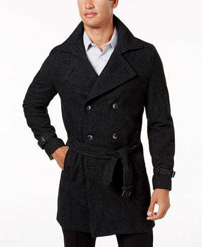 INC International Concepts Men's Double-Breasted Trench Coat ...
