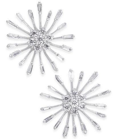 Diamond Starburst Stud Earrings (1/3 ct. t.w.) in 14k White Gold