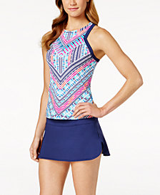 JAG High-Top Neck Racerback Tankini & Swim Skirt