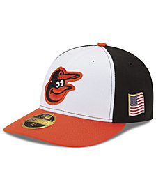 New Era Baltimore Orioles Authentic Collection Low Profile 9-11 Patch 59FIFTY Fitted Cap