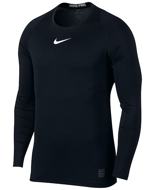 Nike Men's Pro Fitted Long Sleeve Training Shirt