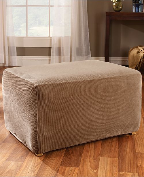 slip decoration on covered best fabric ideas fashionable cover oversized slipcover ottoman rag square