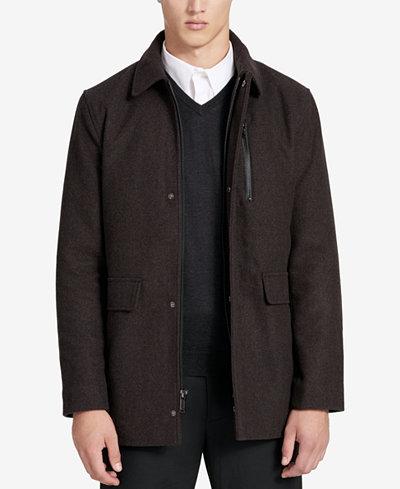 Calvin Klein Men's Big & Tall Wool Overcoat