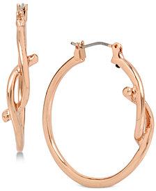 Robert Lee Morris Soho Rose Gold-Tone Knot Hoop Earrings