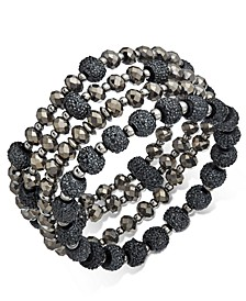 INC Two-Tone 4-Pc. Set Beaded Stretch Bracelets, Created for Macy's