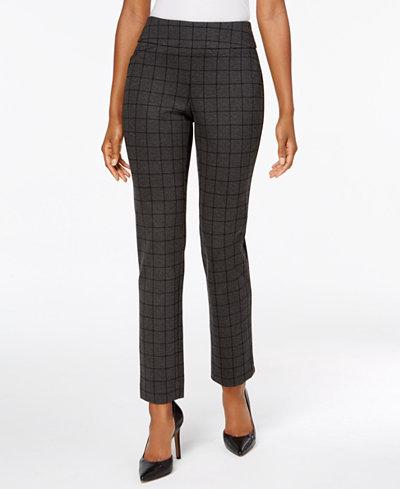 Charter Club Plaid Slim-Leg Pants, Created for Macy's