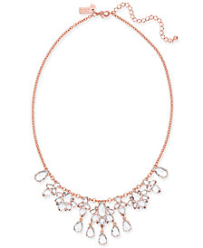 kate spade new york Rose Gold-Tone Crystal Cluster Collar Necklace