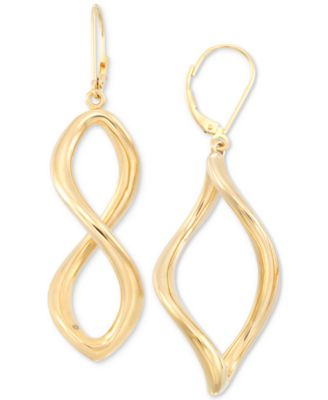 Signature Gold Infinity Hoop Earrings in 14k Gold over Resin