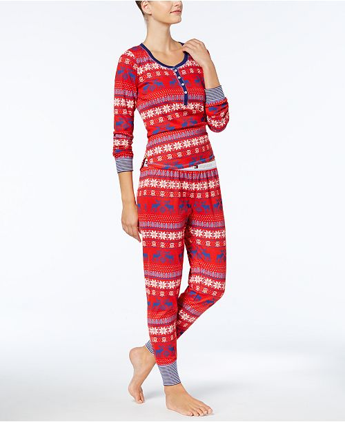 Tommy Hilfiger Vintage Thermal Pajama Set   Reviews - Bras e1bcaac67