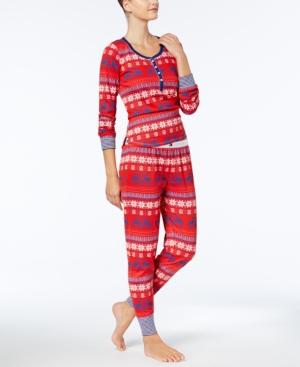 Tommy Hilfiger Vintage Thermal Pajama Set In Moose Fairisle ... d0c9ef02c