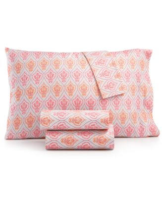 Printed Microfiber Full 4-Pc Sheet Set