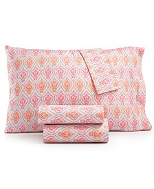 Printed Microfiber Queen 4-Pc Sheet Set, Created for Macy's