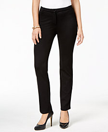 JM Collection Petite Straight-Leg Pants, Created for Macy's