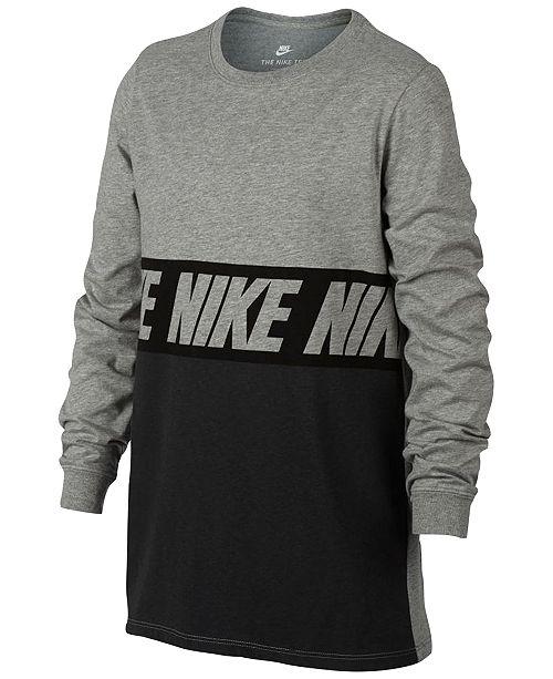 8b7818f882d7 ... Nike Big Boys Sportswear Advance 15 Training Cotton T-Shirt ...