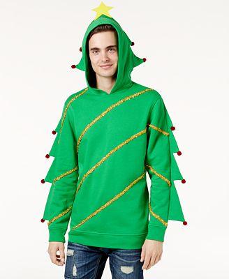 American Rag Mens Christmas Tree Hoodie Created For Macys