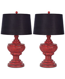 Safavieh Chinese Urn Set of 2 Table Lamps